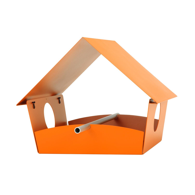 Vogelhaus Piep Show XXL - Stahl, pulverbeschichtet - Orange, Radius
