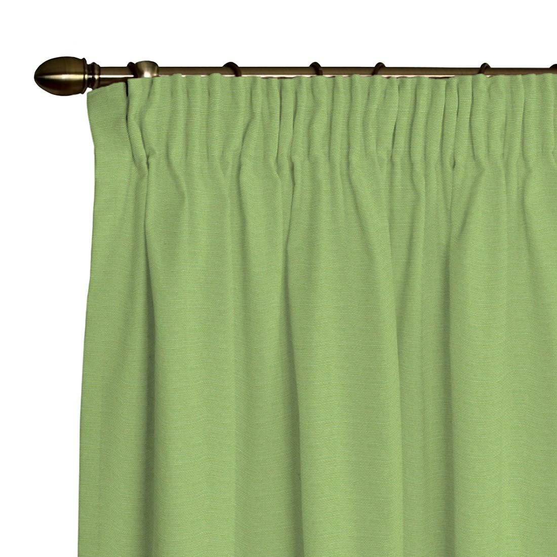 Vorhang Atago (inkl. Kräuselband) – Hellgrün – 130 x 260 cm, Dekoria bestellen