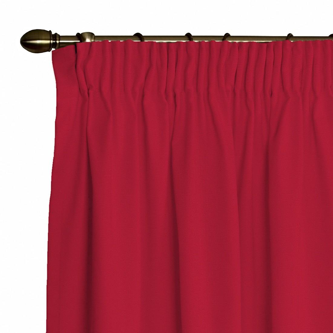 Vorhang Cotton Panama (inkl. Kräuselband) – Rubinrot – 130 x 310 cm, Dekoria bestellen