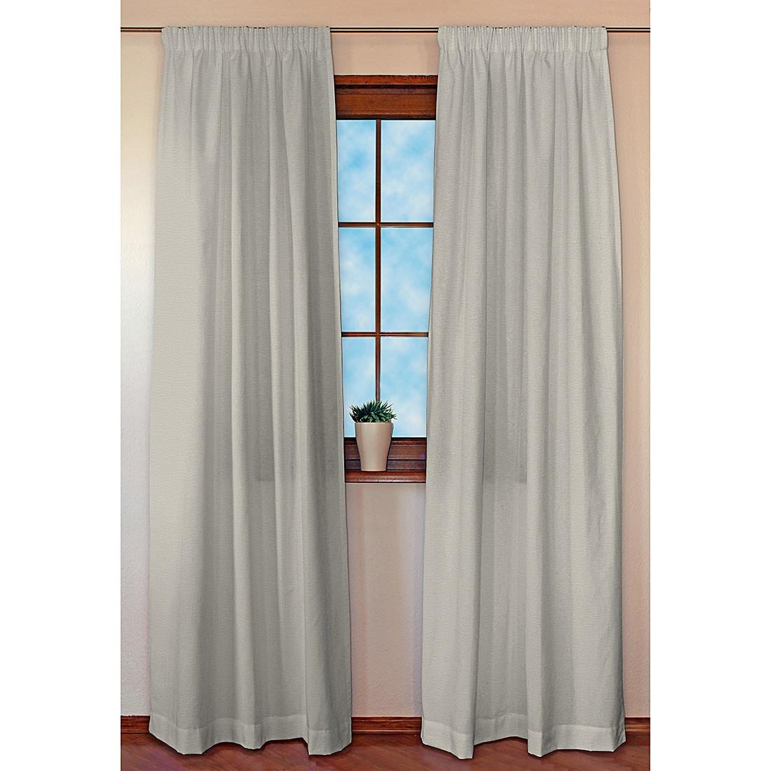 dekoria vorhang linen kr uselband grau gardine dekoschal verdunklungsvorhang ebay. Black Bedroom Furniture Sets. Home Design Ideas