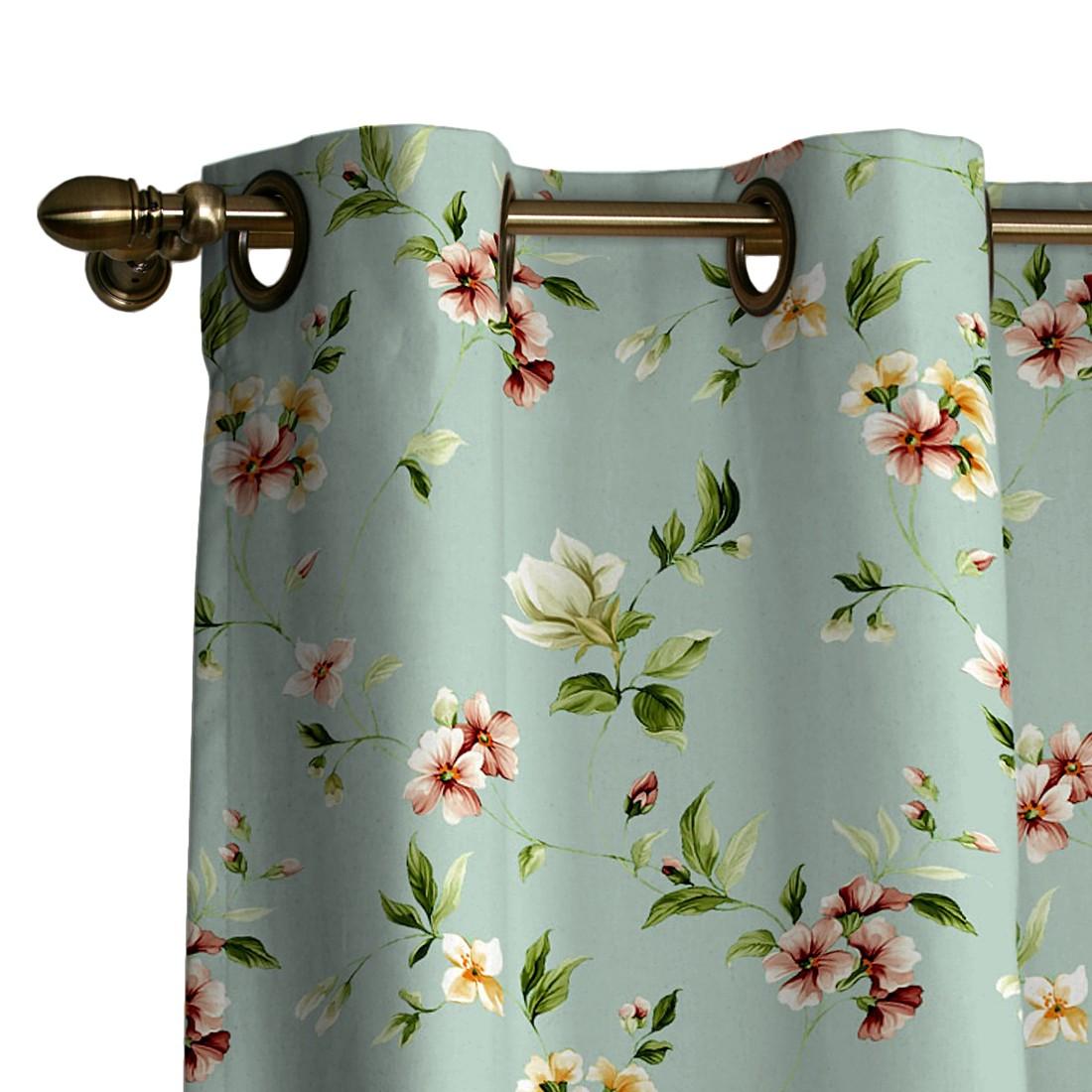 Vorhang mit Ösen – Blumen klein Hellblau – 130×260 cm, Dekoria kaufen