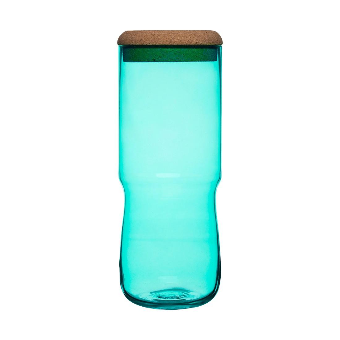 Vorratsglas Aqua – Mundgeblasenes Glas, Korkdeckel Grün – 30 cm, SEA glasbruk günstig online kaufen