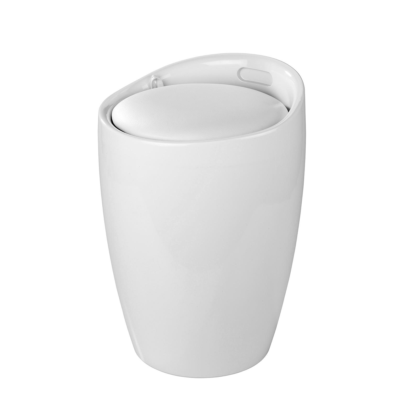 Wäschehocker Candy - Weiß, Wenko