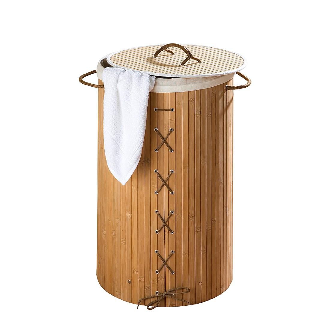 Wäschetruhe Bamboo - Natur, Wenko