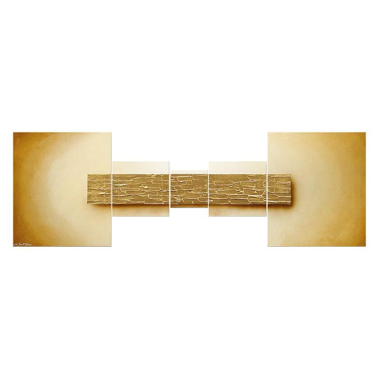Wandbild Broken Gold – 100% handgemalt, WandbilderXXL online bestellen