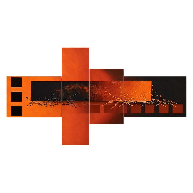 Wandbild Fiery Emotions – 100% handgemalt – Größe S: 70 x 130 cm, WandbilderXXL bestellen