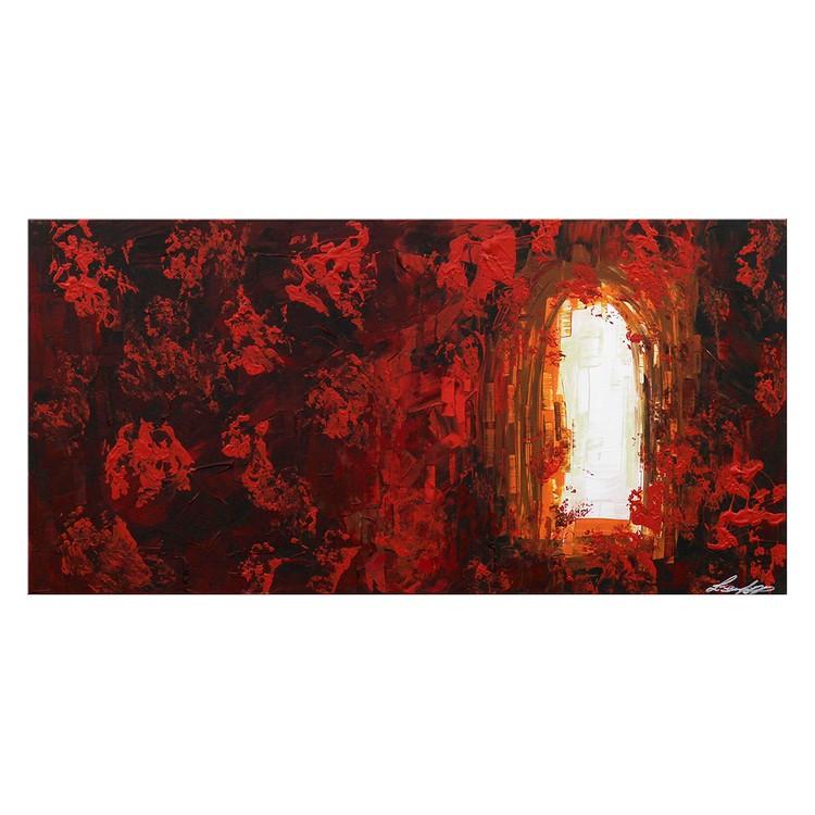 Wandbild Glowing Meadow – 100% handgemalt – Größe L: 60 x 120 cm, WandbilderXXL online bestellen