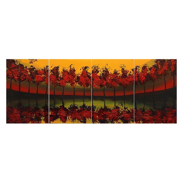 Wandbild Glowing Sky – 100% handgemalt, WandbilderXXL günstig bestellen
