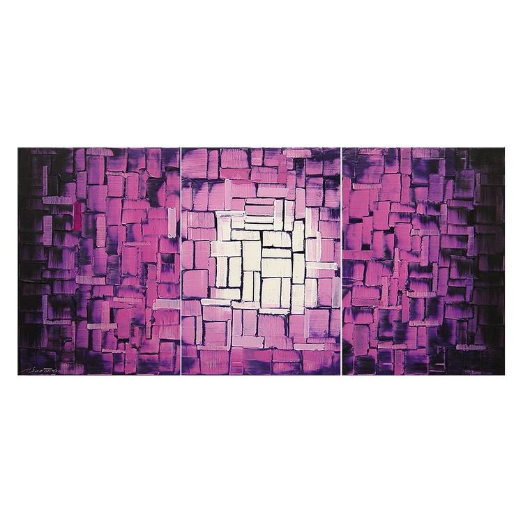 Wandbild Purple Afterglow – 100% handgemalt, WandbilderXXL günstig