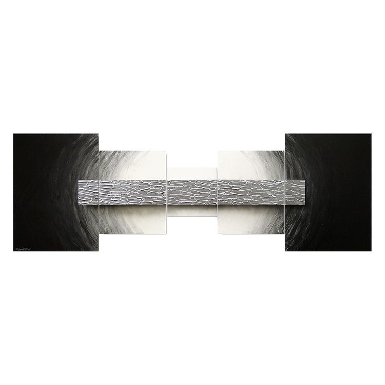 Wandbild Silberbarren - 100% handgemalt - 70 x 210 cm, Wandbilder XXL