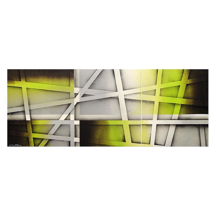 Wandbild Vivid Green – 100% handgemalt, WandbilderXXL günstig online kaufen