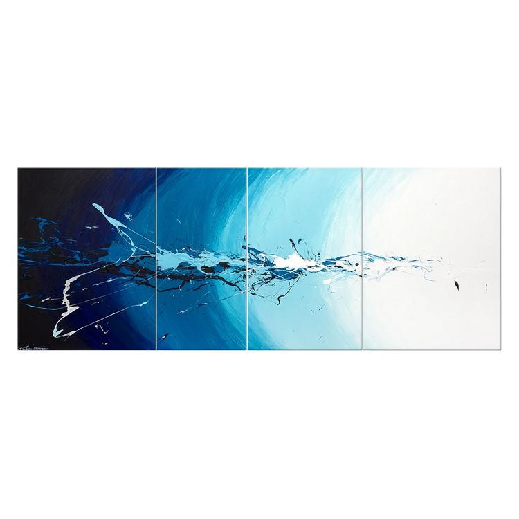 Wandbild Water Splash – 100% handgemalt – Größe S: 50 x 130 cm, WandbilderXXL online kaufen