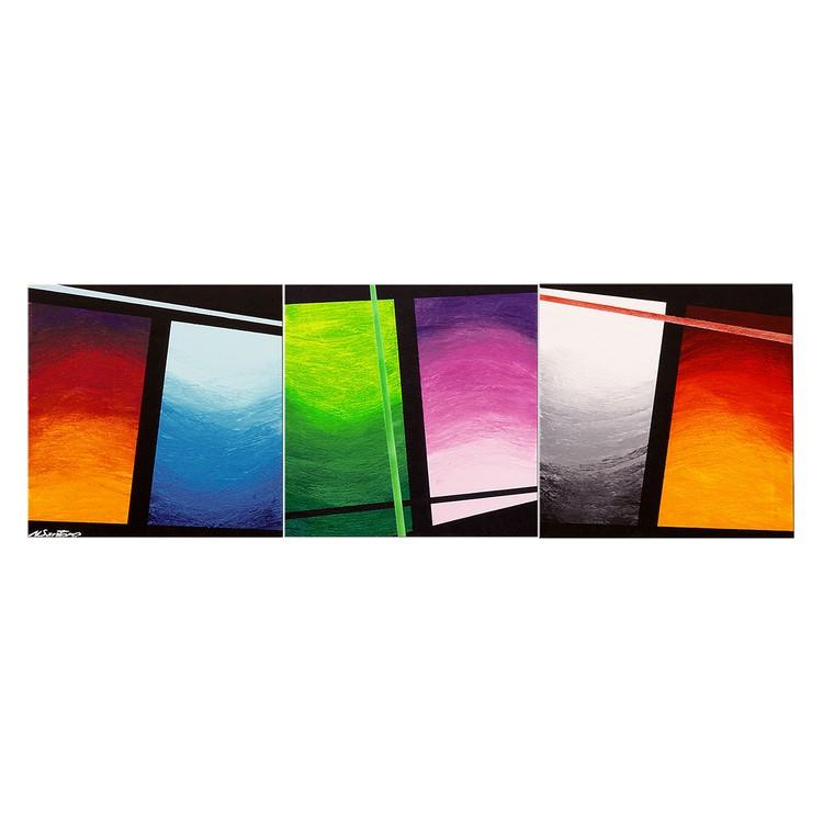 Wandbild Wave of Colors – 100% handgemalt – Größe XXL: 80 x 260 cm, WandbilderXXL günstig kaufen
