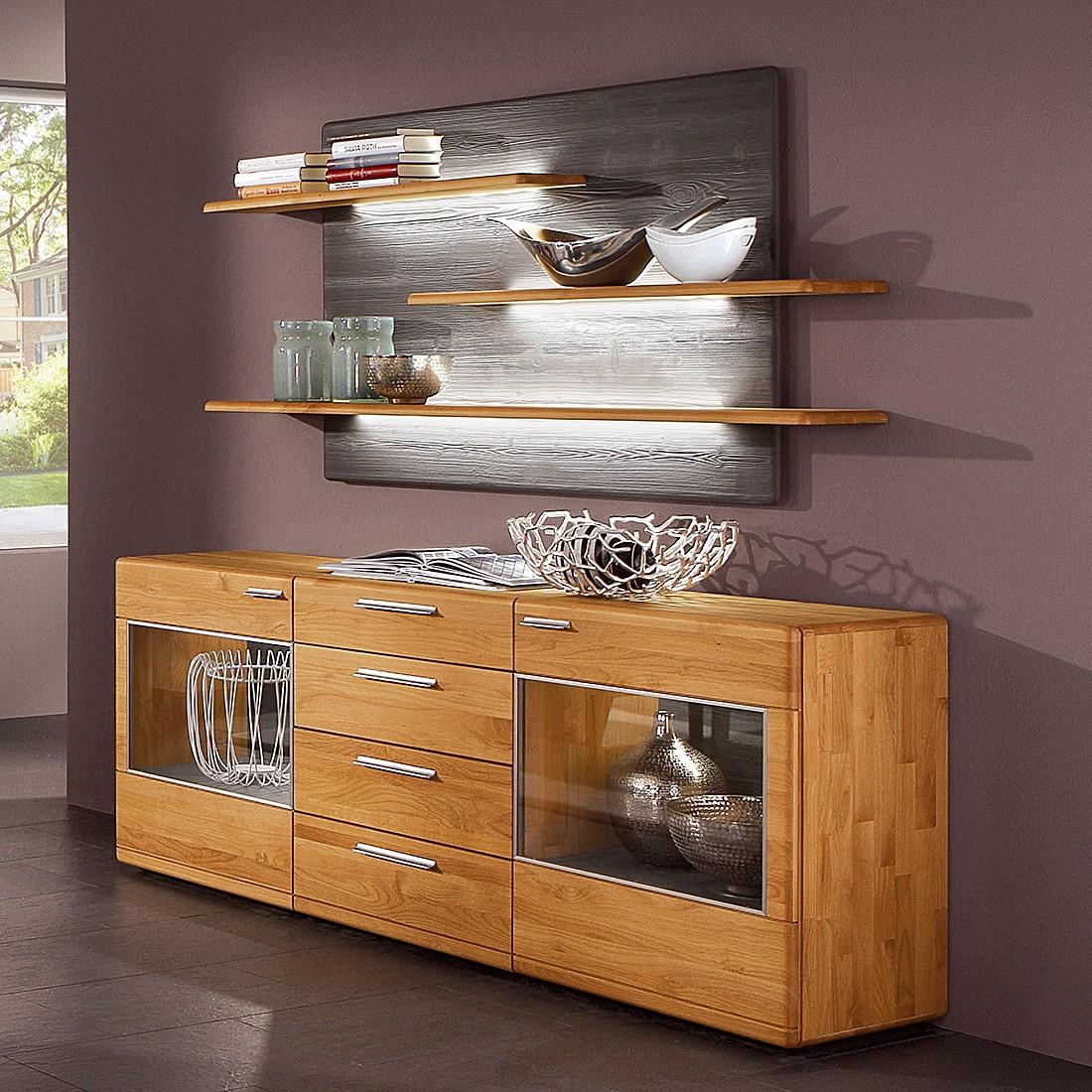 a wandboard curve i erle massiv mit beleuchtung. Black Bedroom Furniture Sets. Home Design Ideas