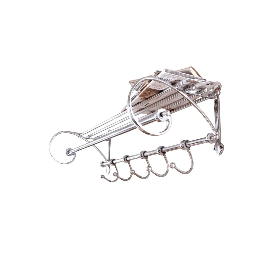 Wandgarderobe Silver – Aluminium/Eisen – Silber, PureDay kaufen