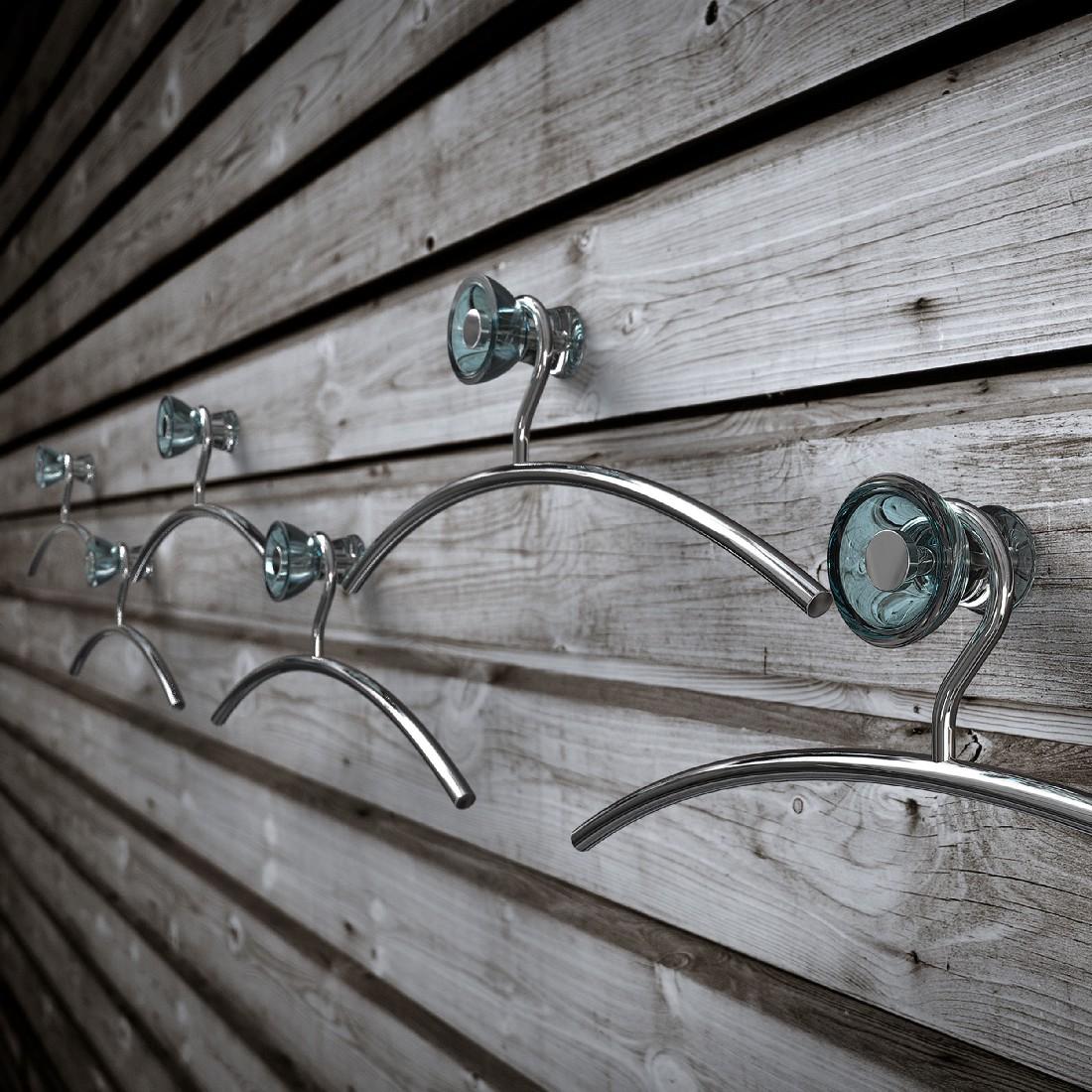 Wandhaken Blossom – Acryl – Tuerkis, Frost – QIK8696