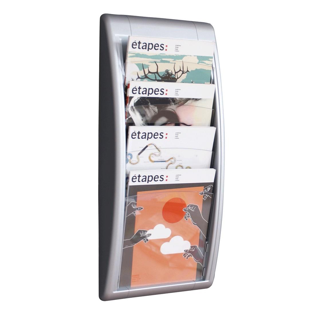 Wandhalter Quick Blick – Polystyrol – Silber – Mittel, PureDay online bestellen