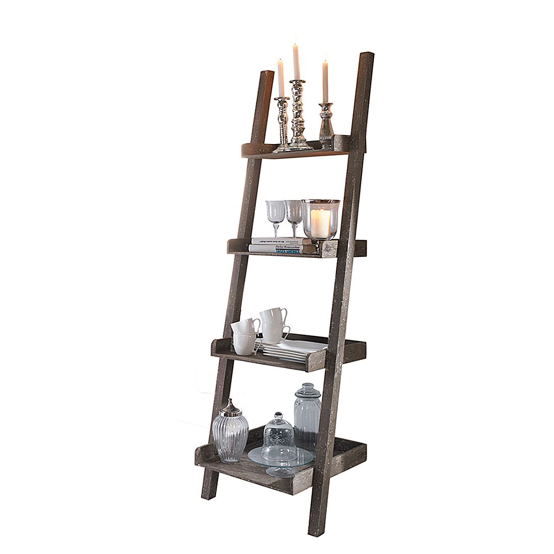 Wandlehnregal Used Look – Holz – Braun, PureDay kaufen