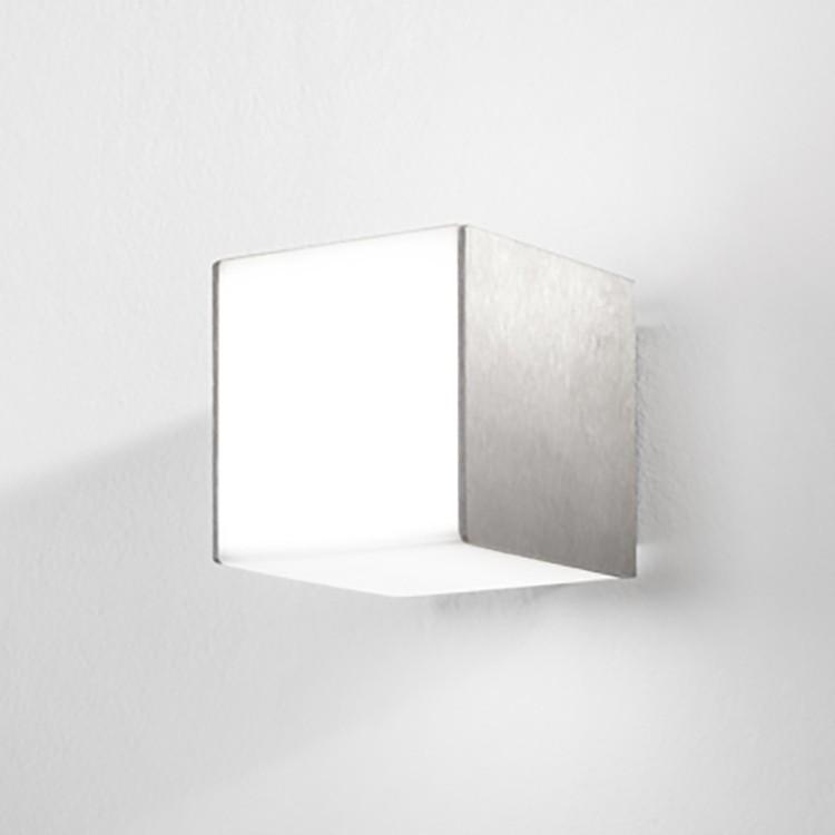 LED-Wandleuchte Alabama ● Aluminium ● Silber- Lampadina A+