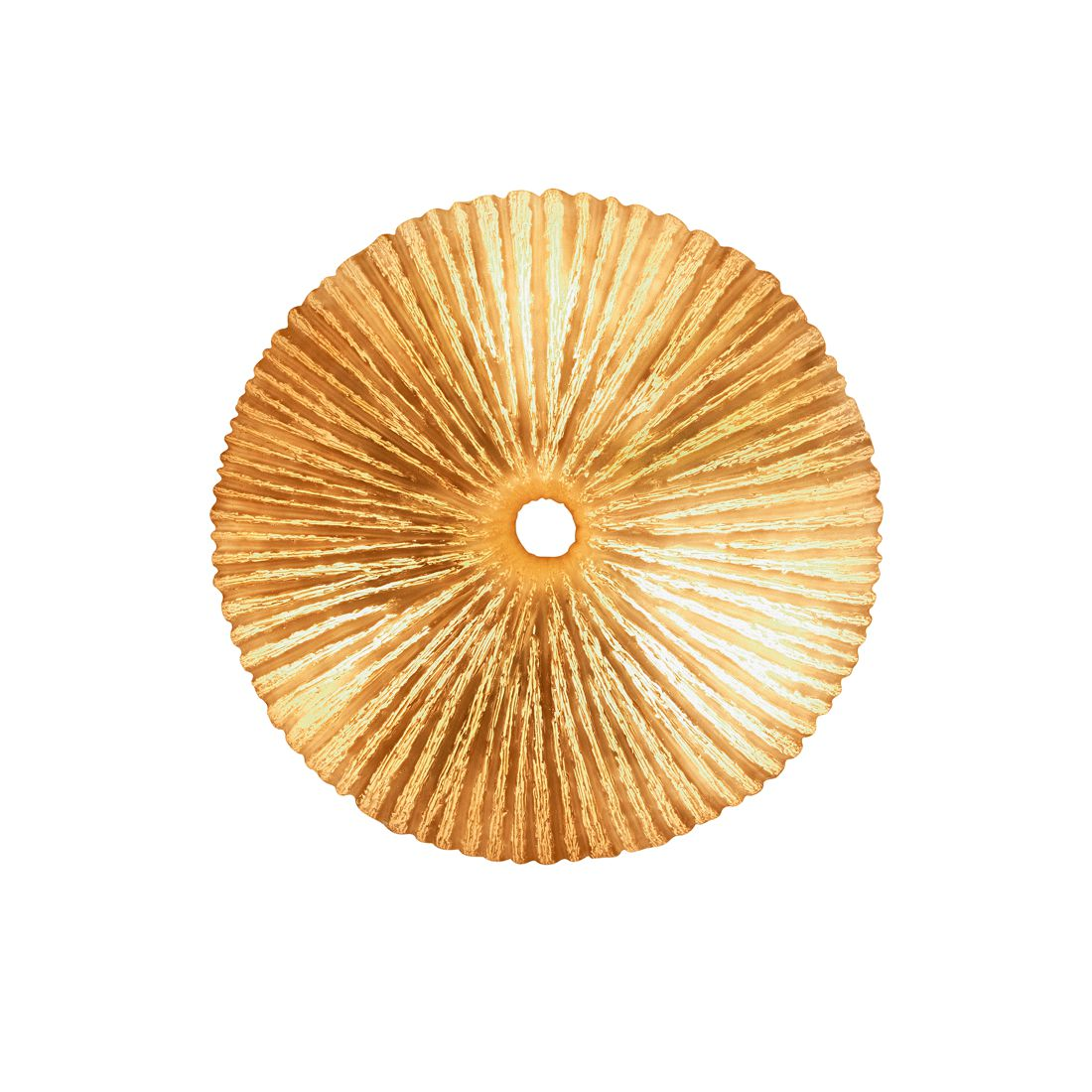 Wandleuchte Ammonit ● Metall/Glas ● Weiß- Pure Day A++