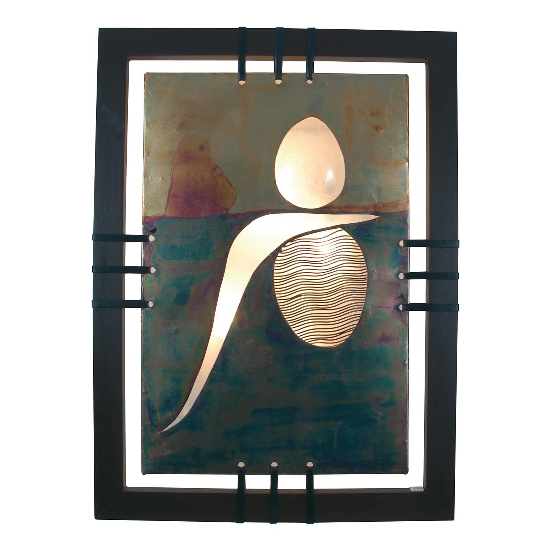 Wandleuchte Bankok ● Metall/Holz ● Braun ● 3-flammig- Näve A++