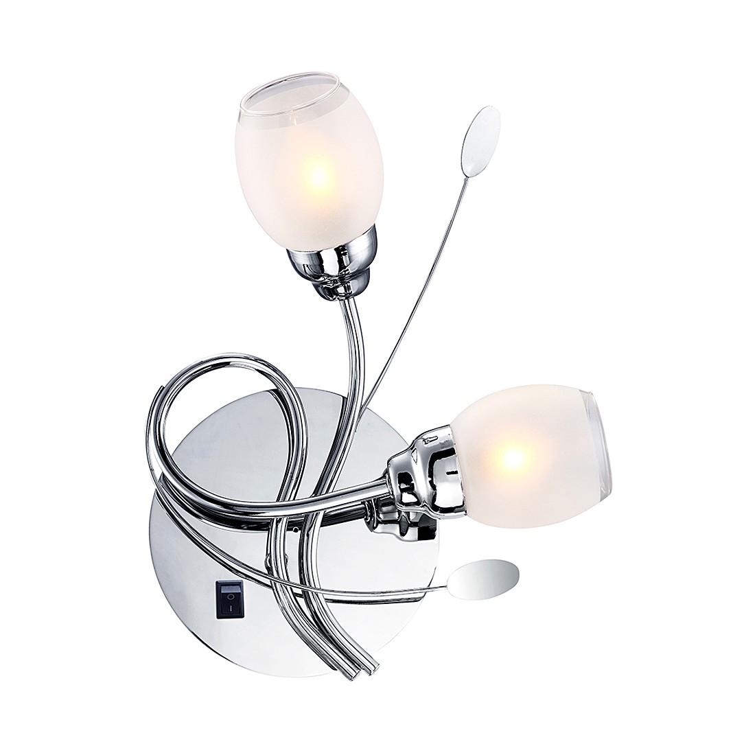 EEK A++, Wandleuchte BILL I – Metall/Kunststoff – Silber – 2-flammig, Globo Lighting bestellen