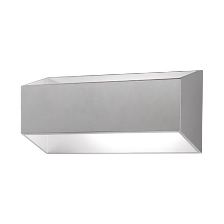 LED-Wandleuchte California ● Aluminium ● Silber- Lampadina A+
