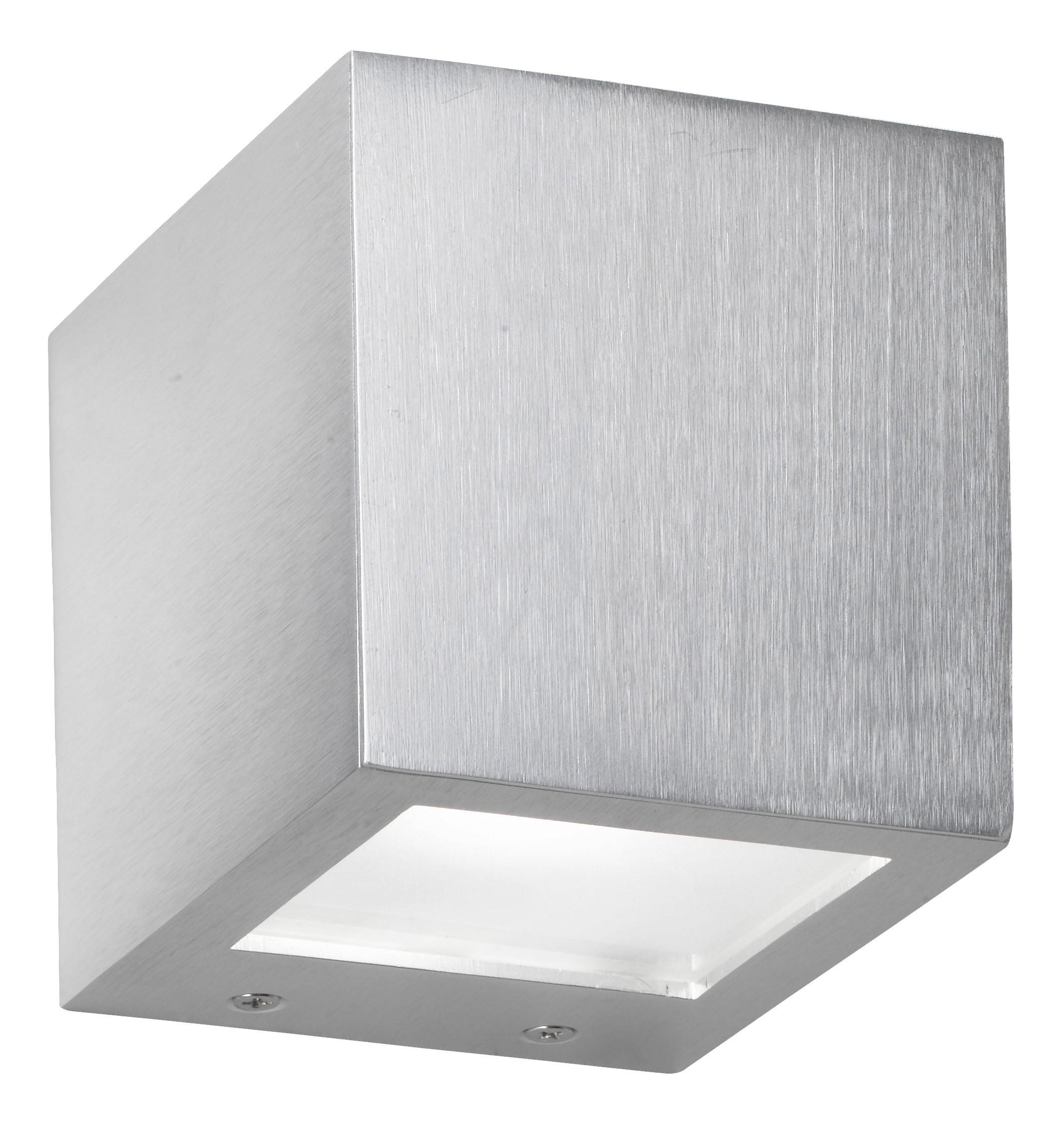 EEK B, Wandleuchte Cub - Aluminium - Silber - 1-flammig, Paul Neuhaus