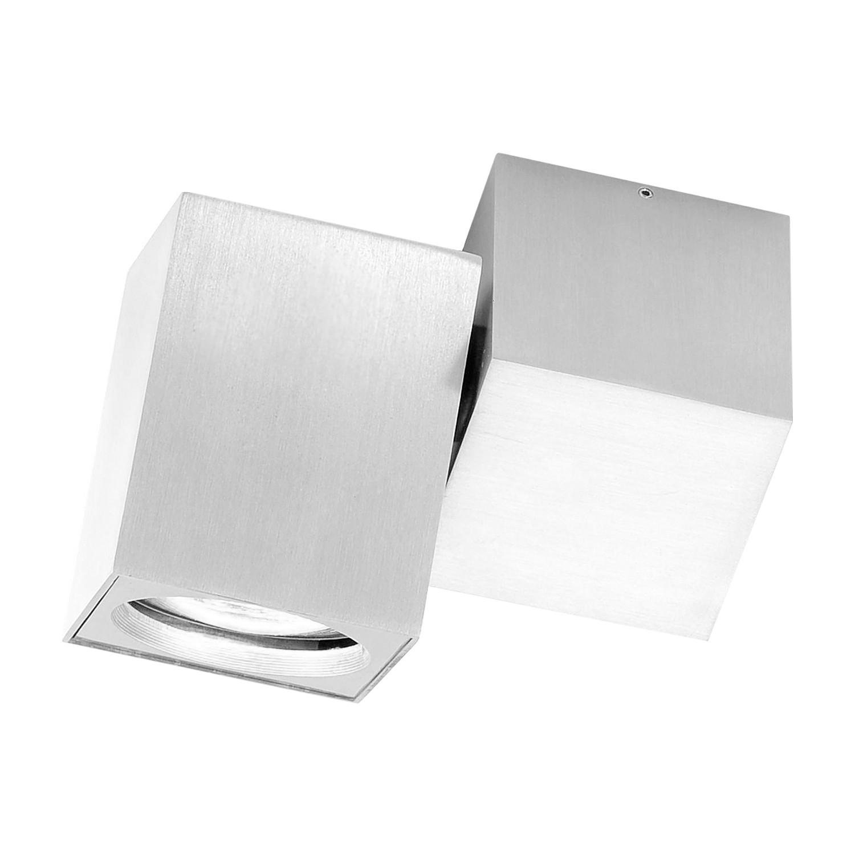 EEK A++, Wandleuchte Cub - Aluminium - Silber - 1-flammig, Paul Neuhaus