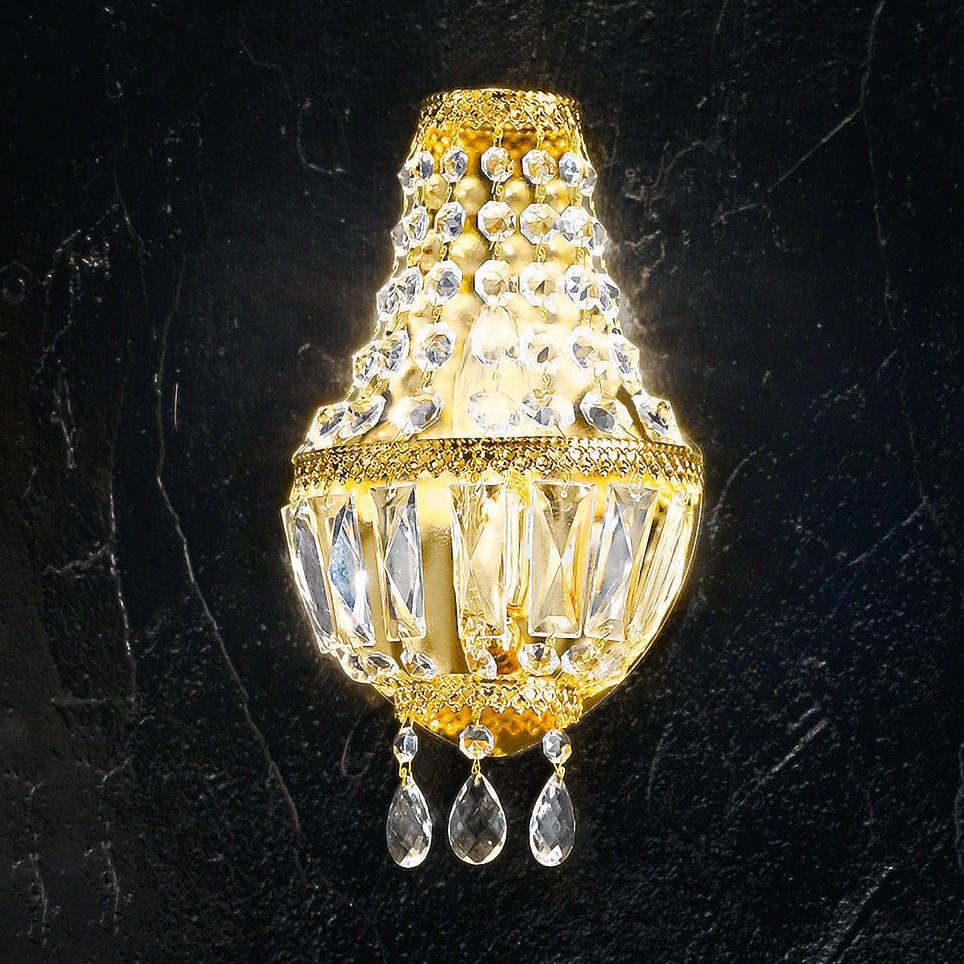 wandleuchte cupola gold metall glas gold 1 flammig hans. Black Bedroom Furniture Sets. Home Design Ideas