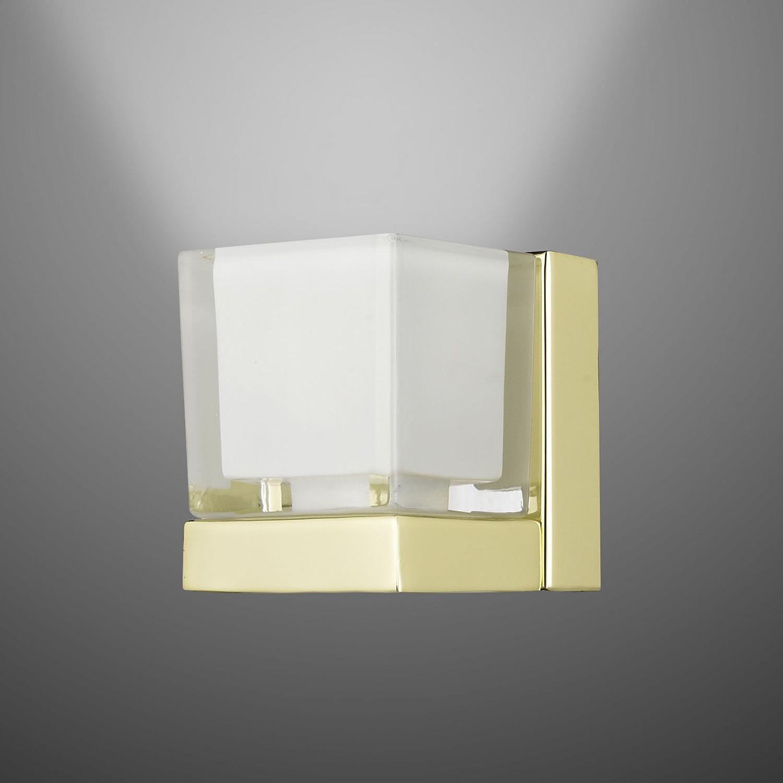 Wandleuchte Dado II Messing & Glas ● 1-flammig- Sorpetaler A+