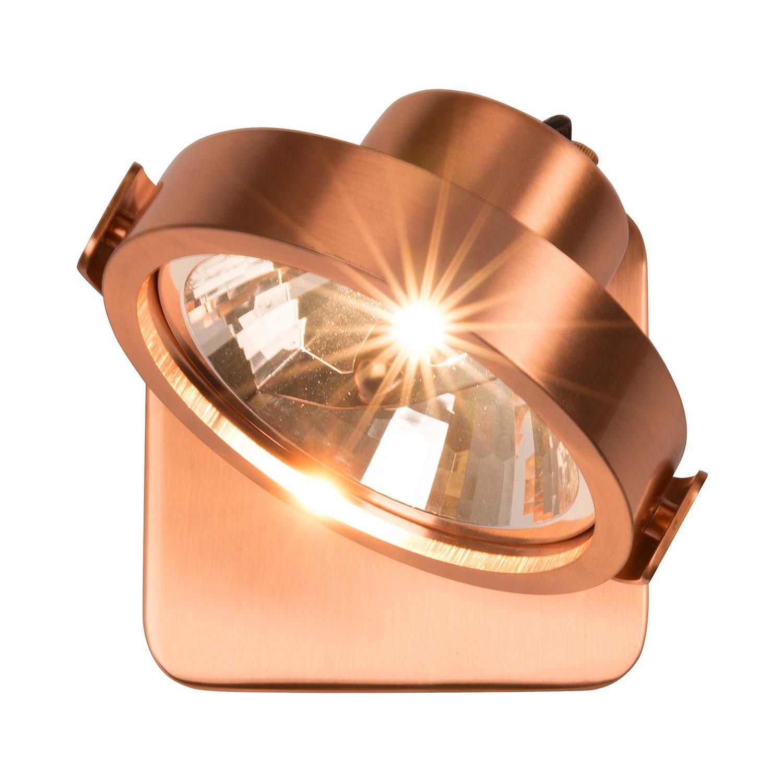 Wandleuchte Dice 1-flammig ● Braun Aluminium- Zuiver C