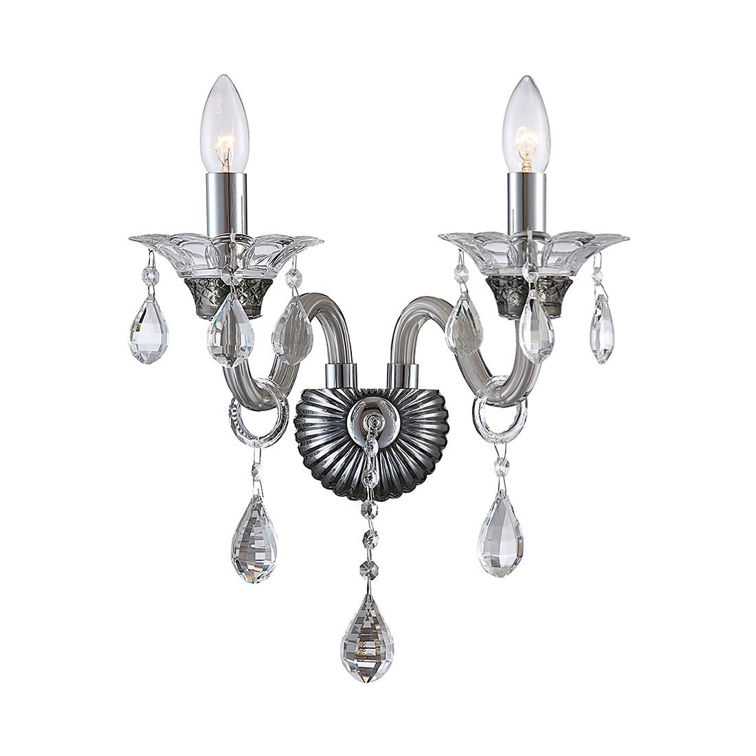 EEK A++, Wandleuchte Dunja - Metall - Silber - 2-flammig, Lux