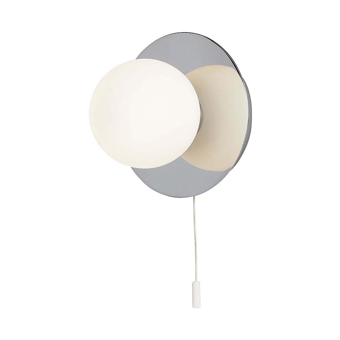 EEK A++, Wand- & Deckenleuchten Sally – Metall/Glas – Silber – 1-flammig, Brilliant günstig online kaufen