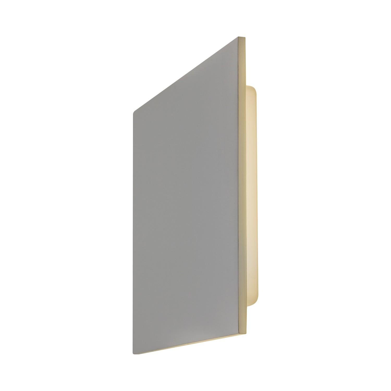 Wandleuchte Eclipse Square 300 1-flammig ● Weiß Stein & Gips- Illumina A+
