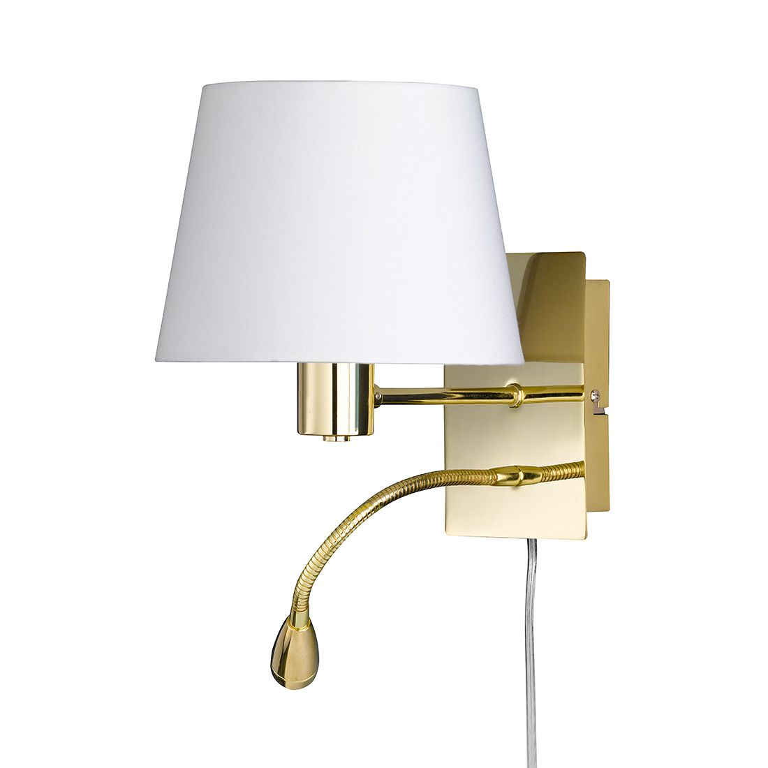 LED ● Wandleuchte Elsa by Honsel ● Metall/Stoff ● Gold ● 2-flammig- Honsel A+