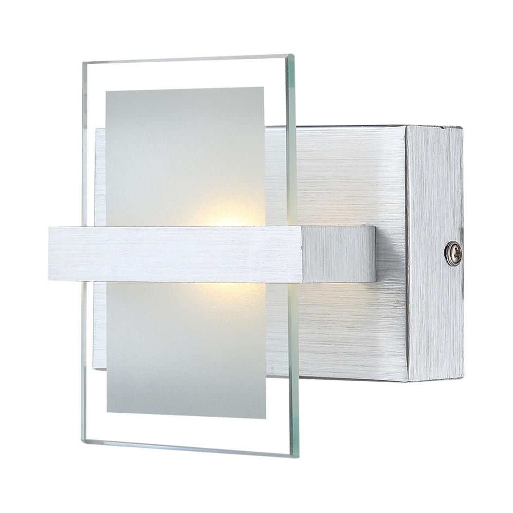 Wandleuchte ENISA – Aluminium/Glas – 1-flammig, Globo Lighting günstig online kaufen