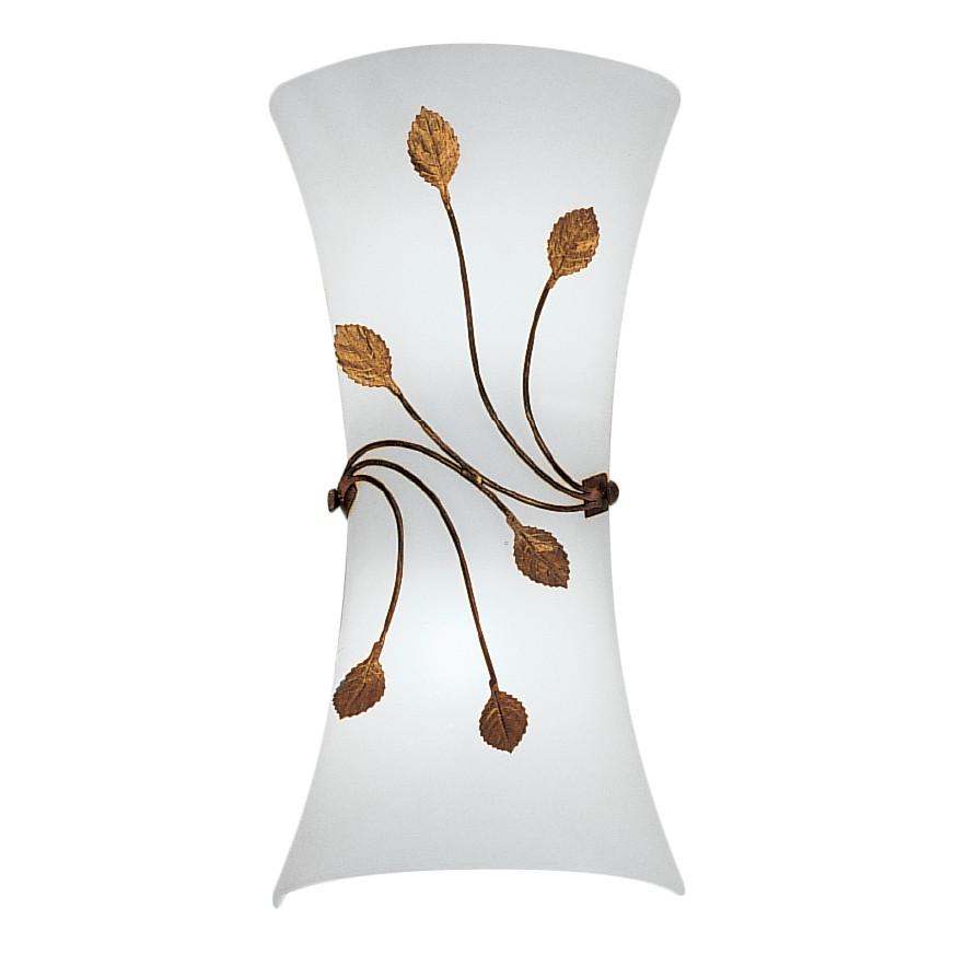Wandleuchte Foglie ● Metall/Glas ● Weiß/Bronze ● 2-flammig- Hans Kögl A+