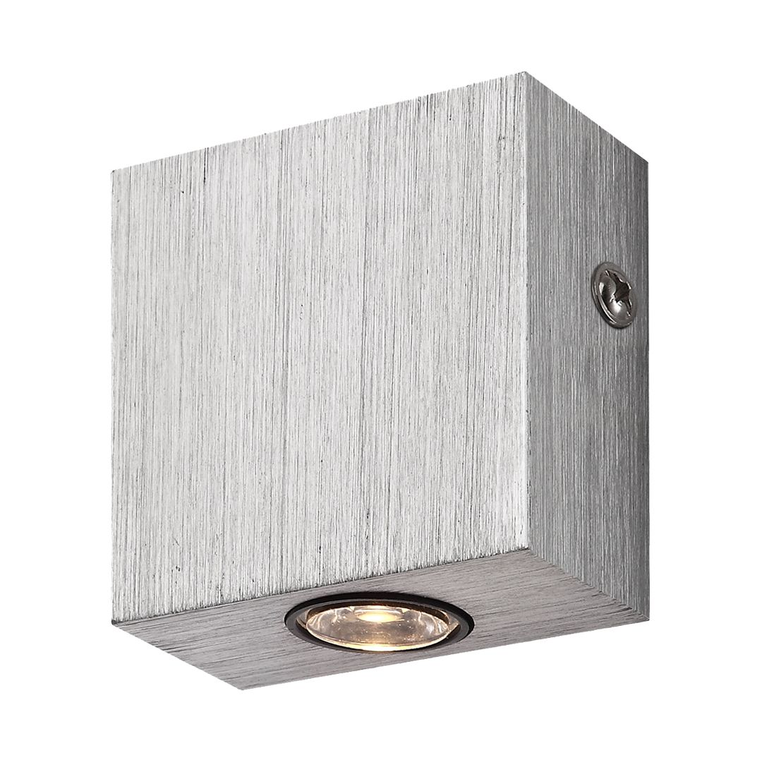 EEK A+, Wandleuchte GORDON – Aluminium – 1-flammig, Globo Lighting bestellen