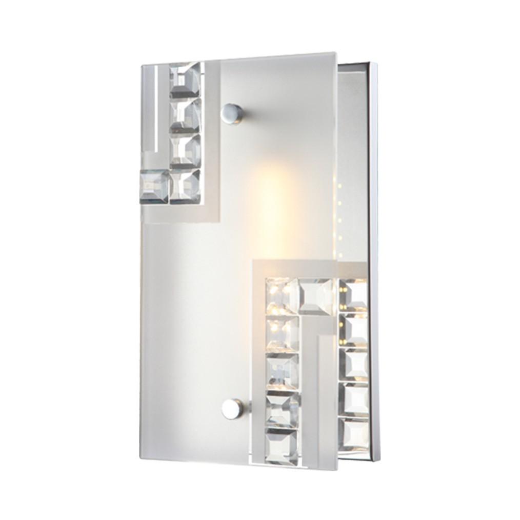 Wandleuchte HAZIRA – Metall/Glas – 1-flammig, Globo Lighting jetzt bestellen
