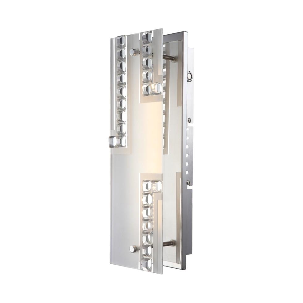 Wandleuchte HAZIRA – Metall/Glas – 1-flammig, Globo Lighting günstig online kaufen
