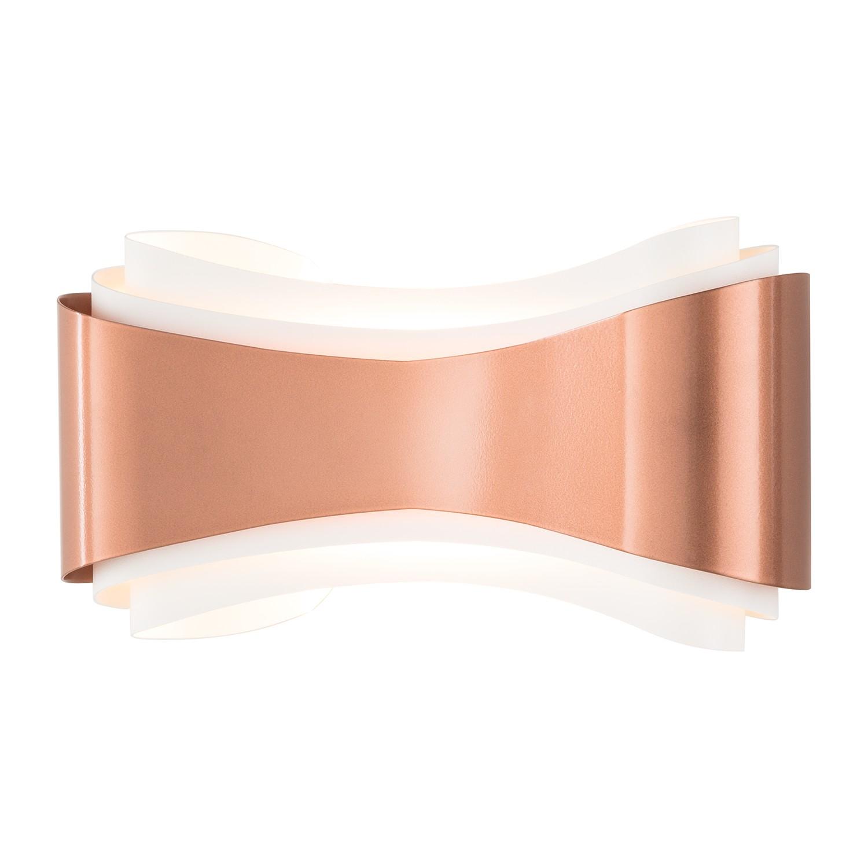Wandleuchte Ionica ● Metall ● Kupfer ● 1-flammig ● 30 cm breit- Lampadina A+