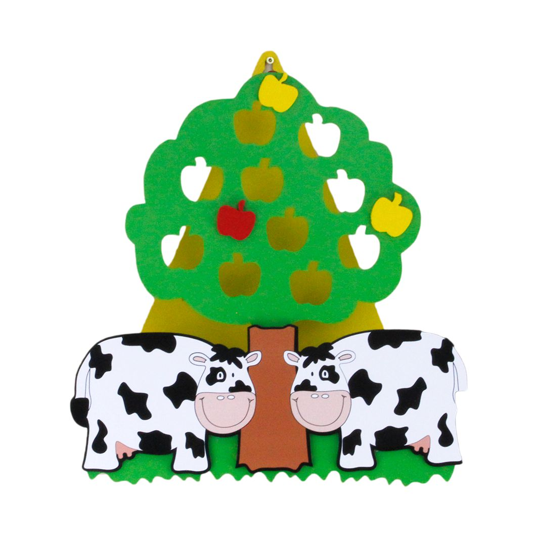 Wandleuchte Kühe Paulas ● Holz ● 1-flammig- Elobra A++