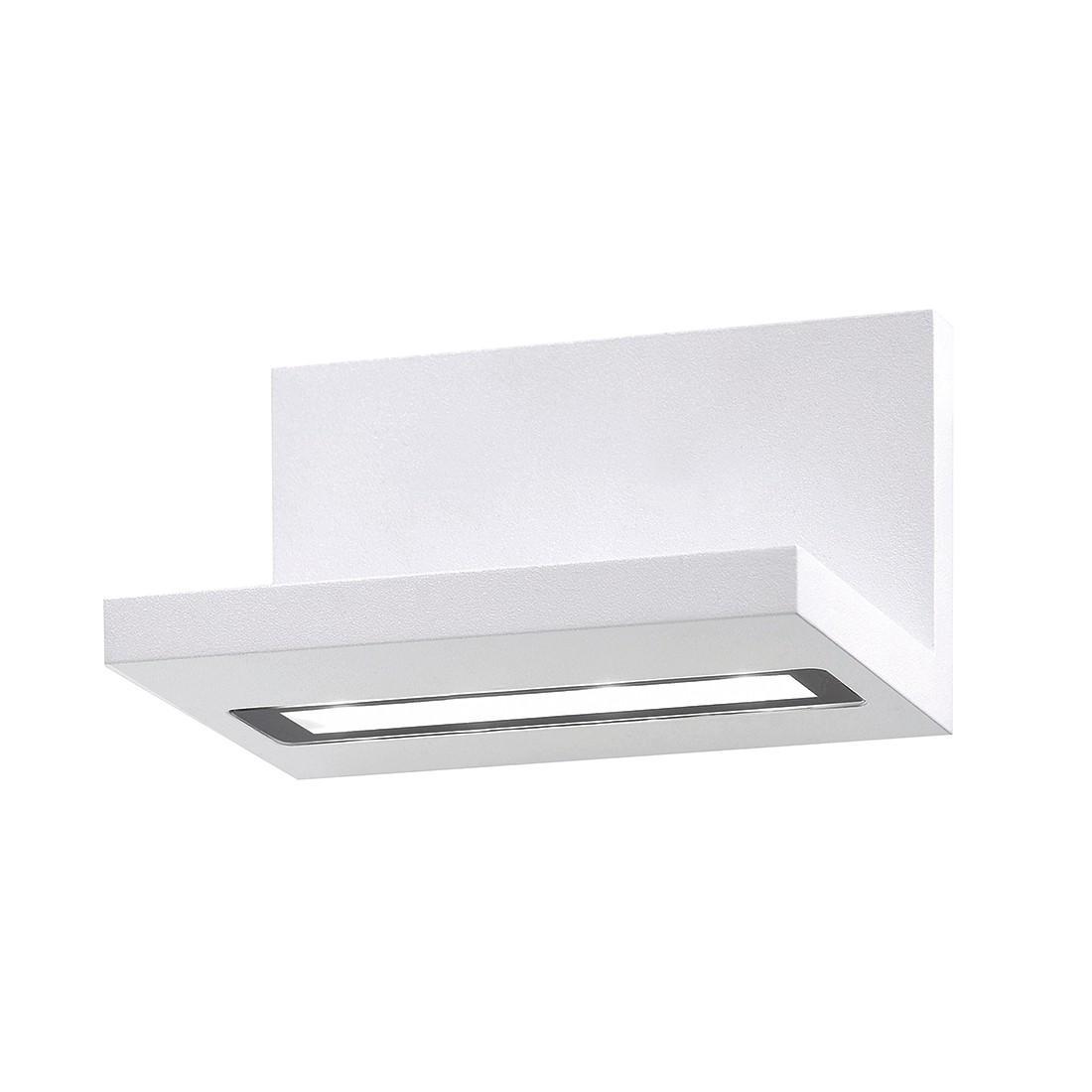 LED-Wandleuchte Lindow ● Aluminium ● Weiß- FLI Leuchten A+