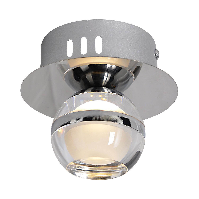 LED-Wand- & Deckenleuchte ● Metall/Kunststoff ● Silber- Näve A+