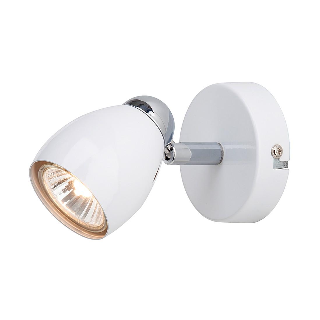 Wandleuchte Sally- Kunststoff/Metall – Silber – 1-flammig, Brilliant günstig bestellen
