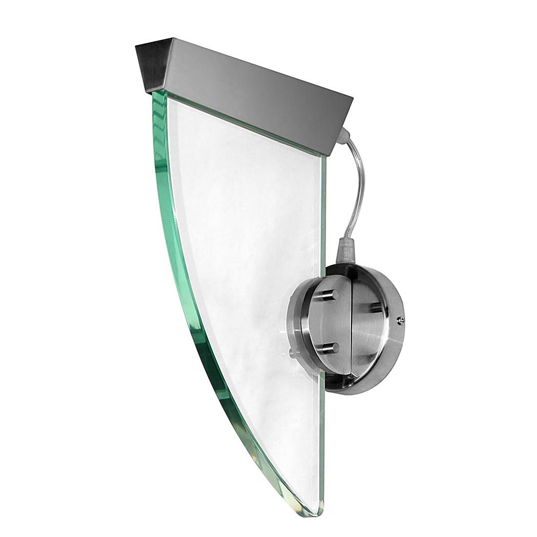 Wandleuchte Sail – Alu-Matt – Glas – Aluminium, Glas Nickel-Satin, s`luce günstig online kaufen