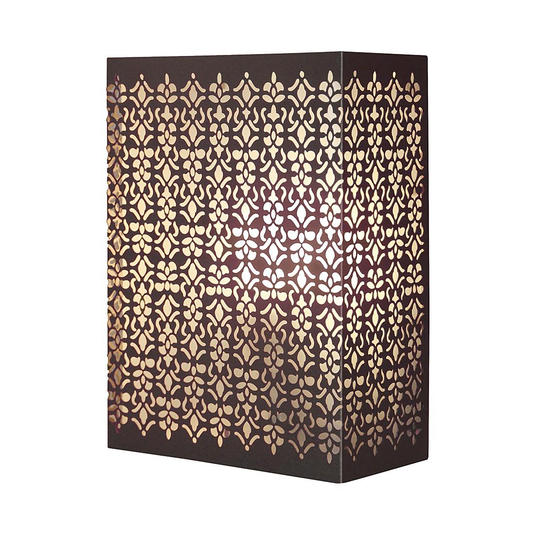 EEK A++, Wand- & Deckenleuchten Sally – Metall/Glas – Braun – 1-flammig, Brilliant jetzt bestellen