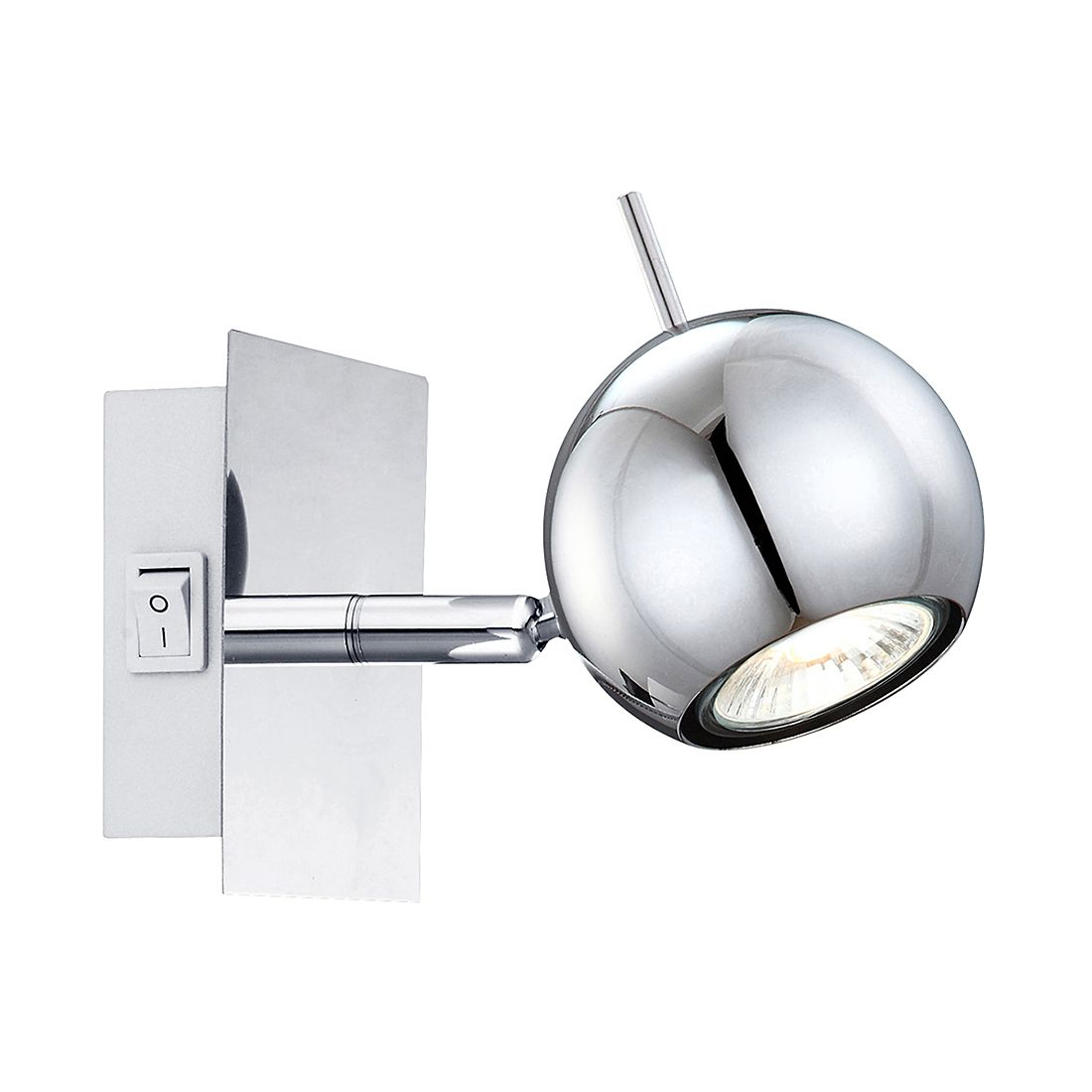 Wandleuchte Oberon ● Metall ● Silber ● 1-flammig- Lux A++