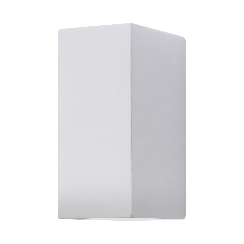 Wandleuchte Parma 2-flammig ● Weiß Stein & Gips- Illumina A+